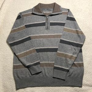 Striped Gray Sweater